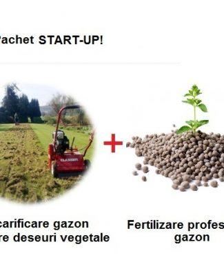 Scarificare gazon + Preluare deseuri vegetale + Fertilizare gazon